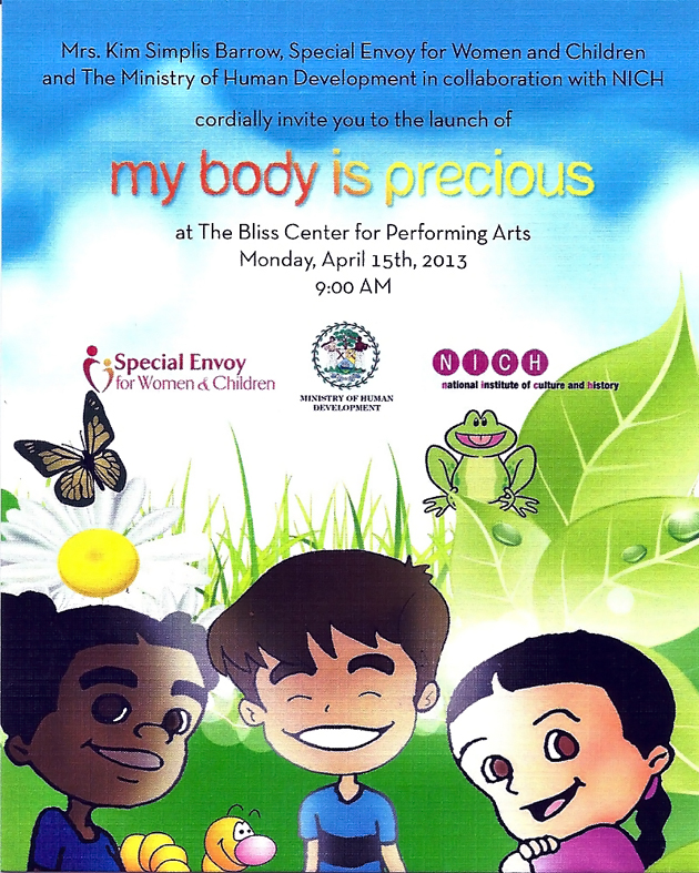 "Children's Book ""My Body is Precious"" To be Launched"