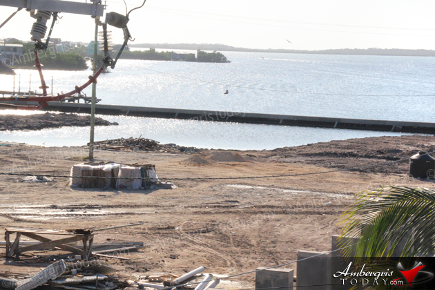 Progress at the San Pedro Sunset Board Walk & Water Taxi Terminal Project