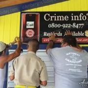 Crime Stoppers Signs Go Up Around Town