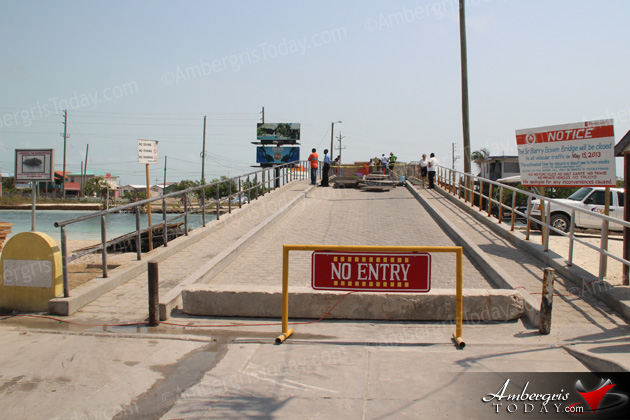 Repairs Commence on Sir Barry Bowen Bridge, San Pedro
