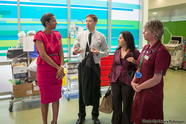 First Lady of Belize visits Evelina Children's Hospital in London
