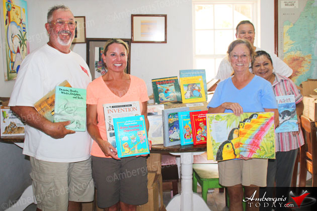 San Pedro Town Library Receives Book Donations