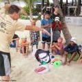 Professional Triathlete Casey Bateman Hosts Summer Swim Splash in Belize