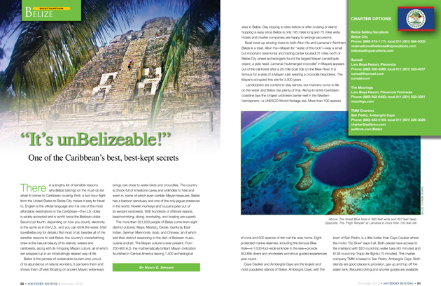 Southern Boating Magazine Features Belize