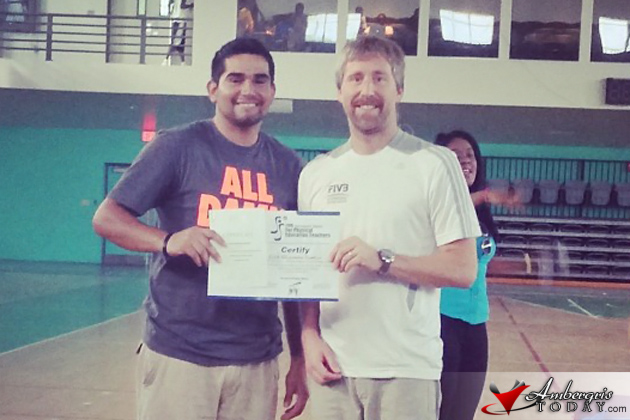 Erick Santizo Attends International Course for Physical Education Teachers