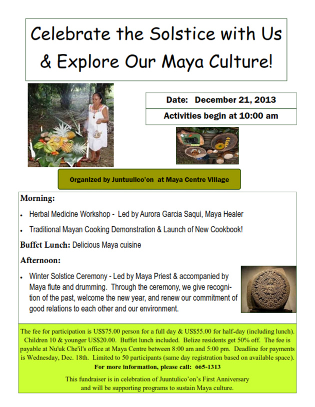 Launch of First Ever Maya Cookbook