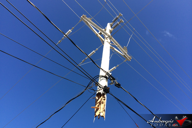 Traffic Accident Leaves Utility Pole Dangling in Mid Air