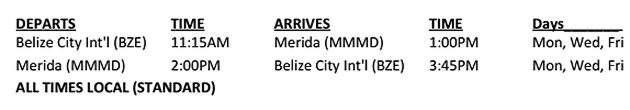 Tropic Air Announces Service To Merida, Mexico