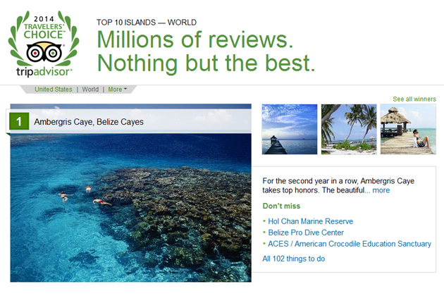Ambergris Caye Voted #1 Island in the World Two Years in a Row by Trip Advisor