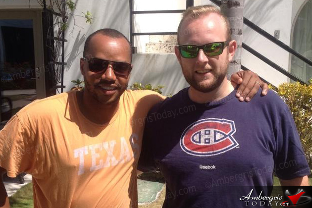 Actor Donald Faison Mingles with Locals in San Pedro, Belize