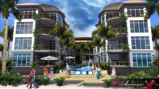 Groundbreaking of Diamante Luxury Beachfront Development in San Pedro, Ambergris Caye, Belize.