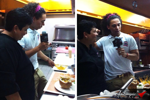Televisa Mexico TV Host Personality Films in Belize