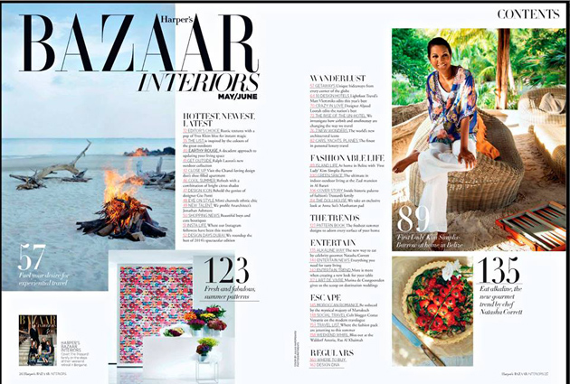 First Look At Harper's Bazaar Interiors Full Pictorial on Belize!Kim Simplis Barrow