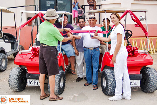 Two Golf Carts Donated to Dr. Otto Rodriguez Polyclinic II San Pedro
