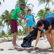 Oceana Wavemakers Celebrate World Ocean's Day 2014 at Halfmoon Caye