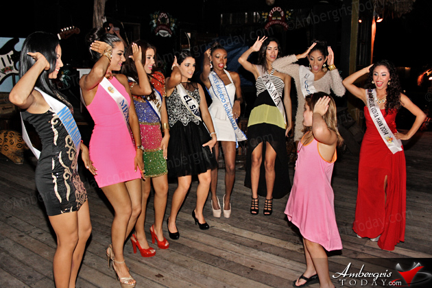 The Costa Maya Contests were officially sashed prior to Noche Sanpedrana at Fido's Courtyard.