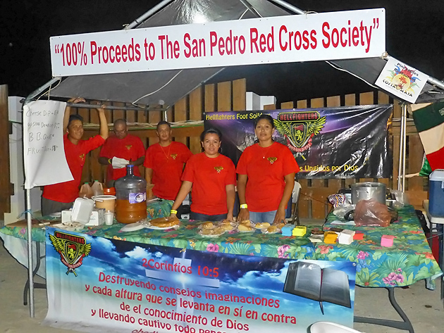 San Pedro Hellfighters Donate to Red Cross Chapter
