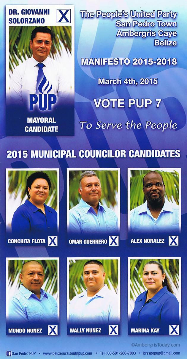 San Pedro PUP Seven Present Manifesto 2015-2018