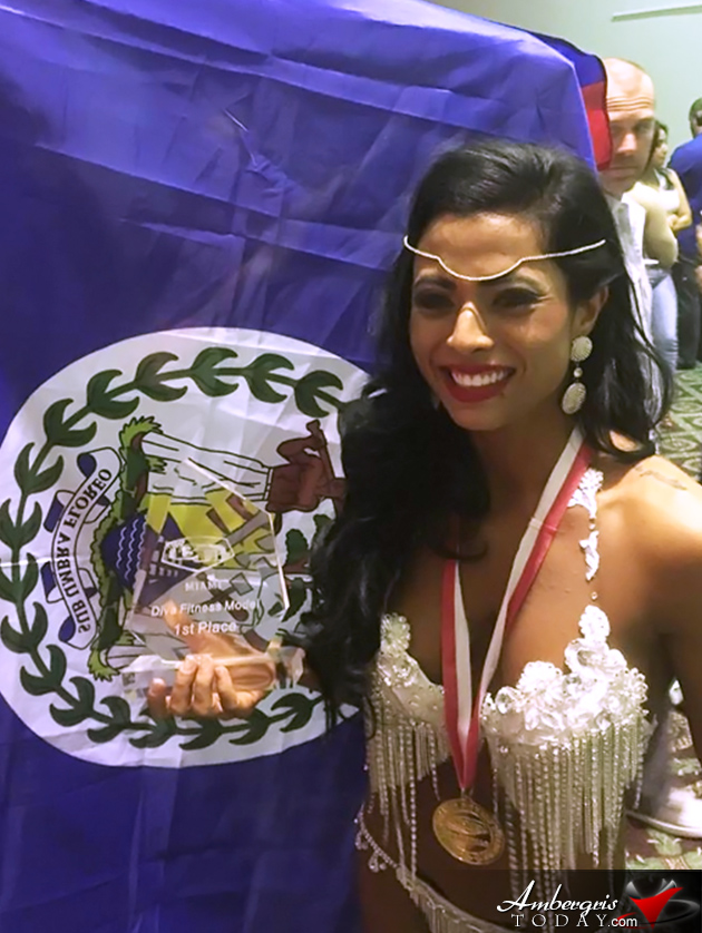 Belize Bodybuilder Cricel Castillo Wins Big in Miami (World Beauty Fitness and Fashion Competition)