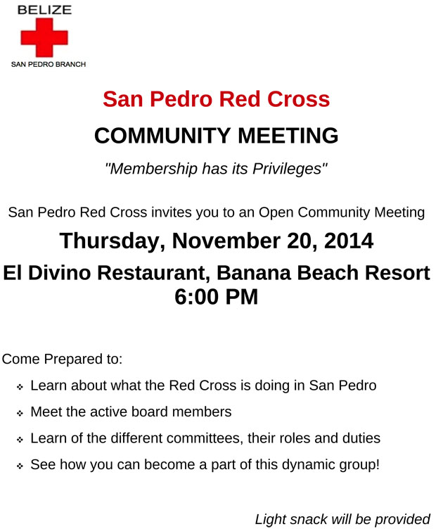 San Pedro Red Cross Revs Up Activity on Island