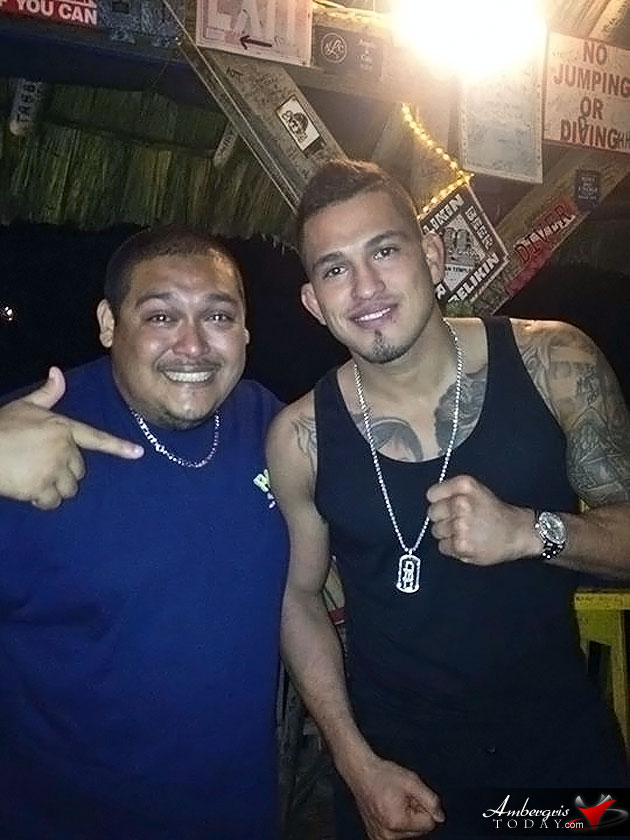 Celebrity Spotting - Mixed Martial Artist Anthony 'Showtime' Pettis in Belize