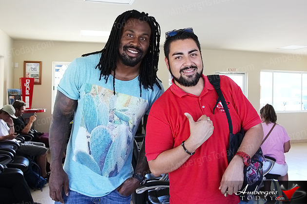 Celebrity Spotting – Steven Jackson of NFL's Atlanta Falcons in San Pedro