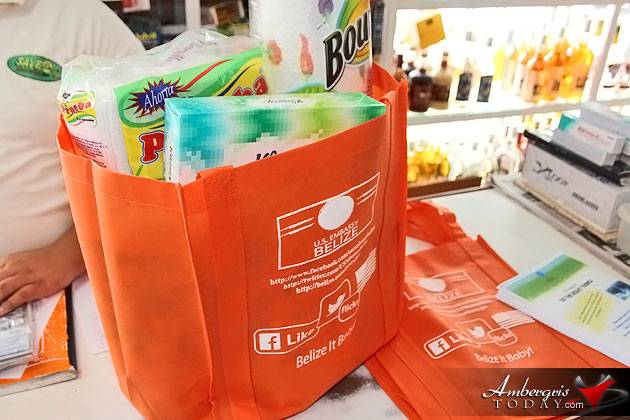 VIP Party Pushes Recycle Shopping Bag Program in Ambergris Caye