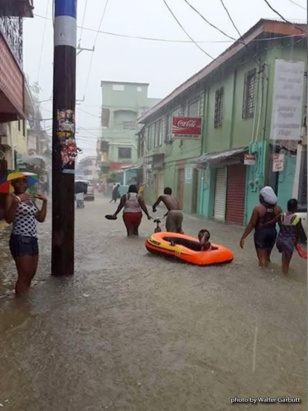 Tropical Depression Floods Belize City, More Rain Expected