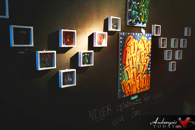 Young Belizean Artist Holds First Solo Exhibit in the City