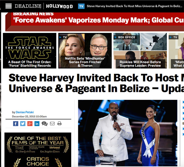 Belize Tourism Board Invites Steve Harvey to Host Costa Maya Festival