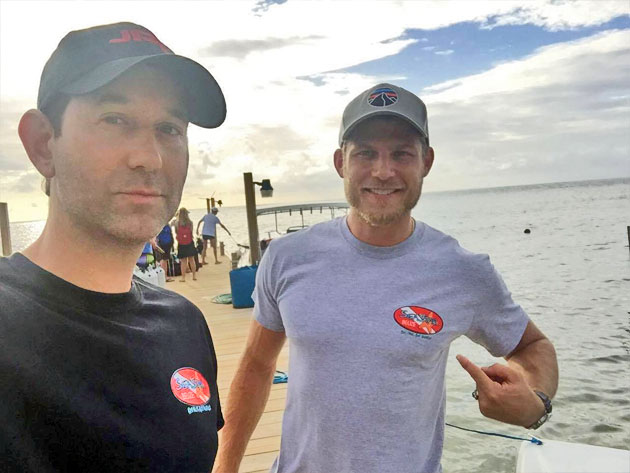 Celebrity Spotting: Actors Go Lionfish Hunting while on Vacation