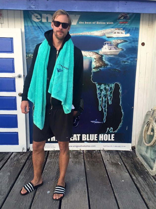 True Blood Superstar Alexander Skarsgard Vacationing in Belize