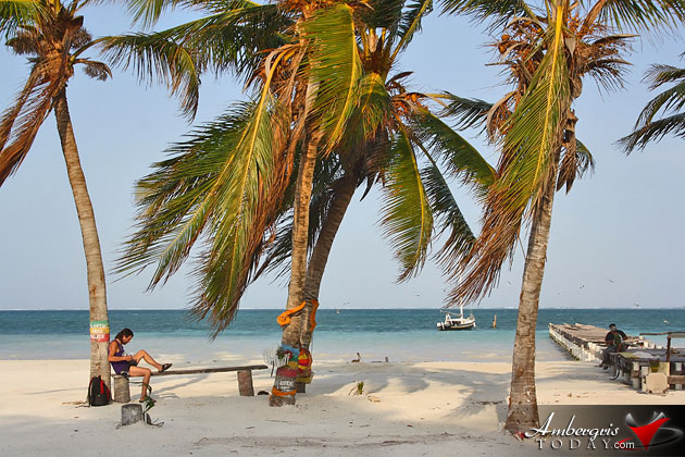 Beach Reclamation project in Caye Caulker, Belize adds beautiful beach frontage