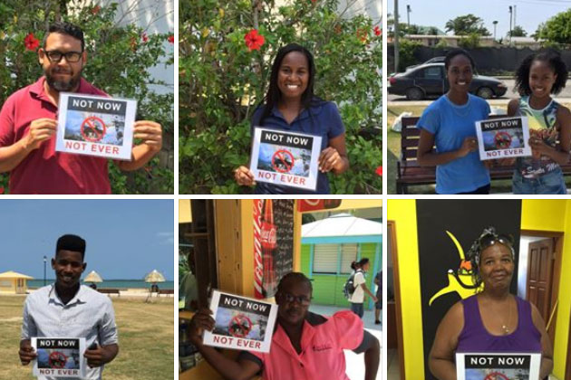 Belizeans Say: Not Now Not Ever! To Offshore Oil Drilling