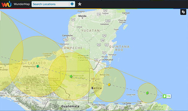 Earl Expected to Make Landfall in Belize as Hurricane Tonight