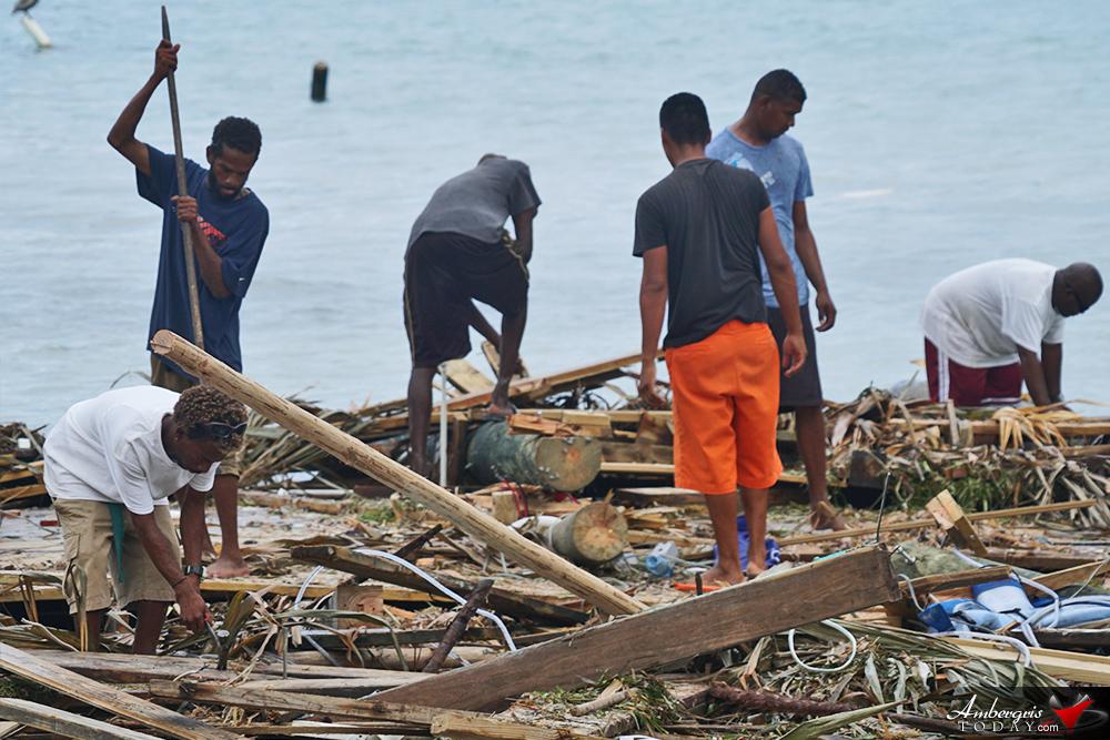 Coastal Devastation on Ambergris Caye by Hurricane Earl