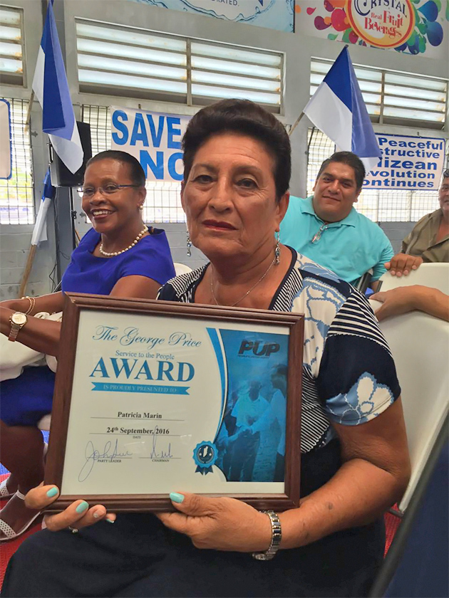 First Woman in Belize Rural South to Receive George Price People Award