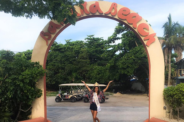 Miss Belize Univere visits La Isla Bonita