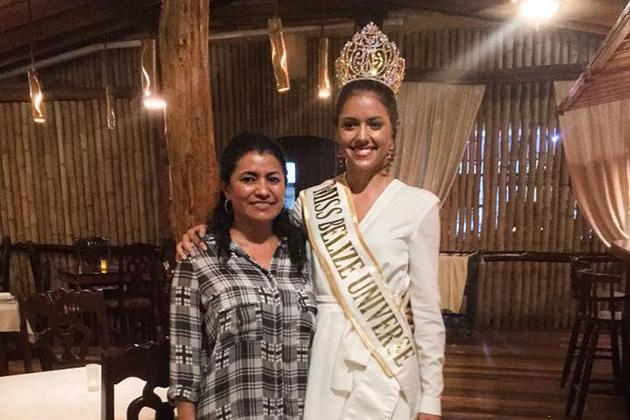 Miss Belize Universe visits La Isla Bonita