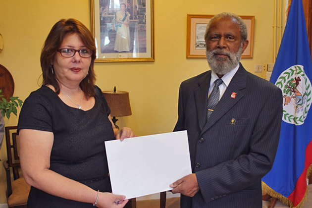 Ambassador of Cuba Presents Credentials to Belize
