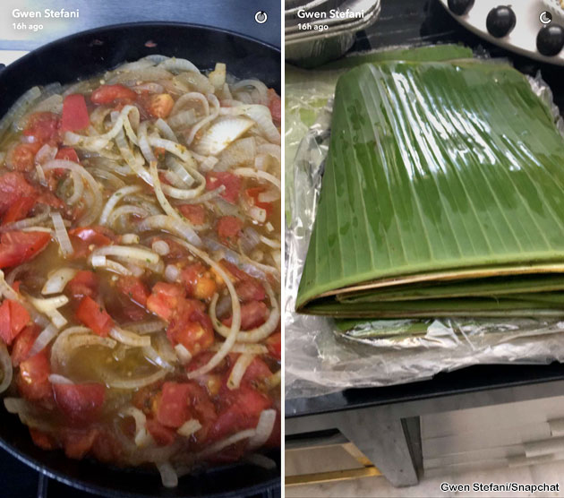 Gwen Stefani Eats Belizean Tamales at Home