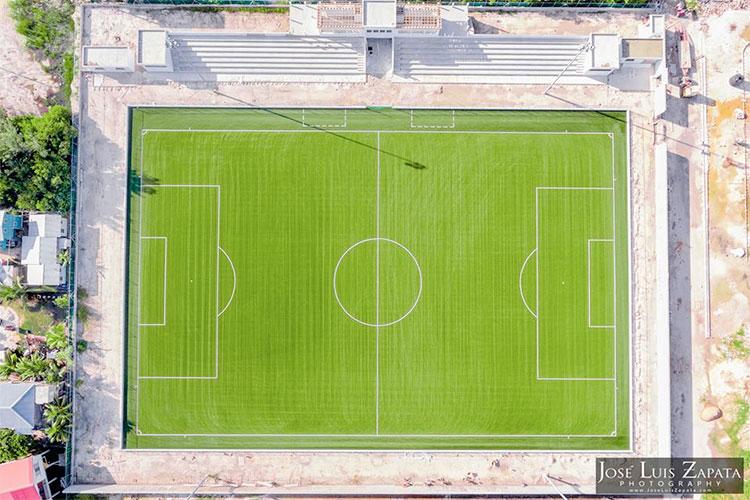 San Pedro Enjoys New Ambergris Stadium at Soft Opening Games