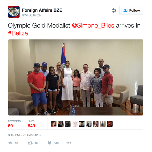 Simone Biles' Christmas Vacations in San Pedro, Belize
