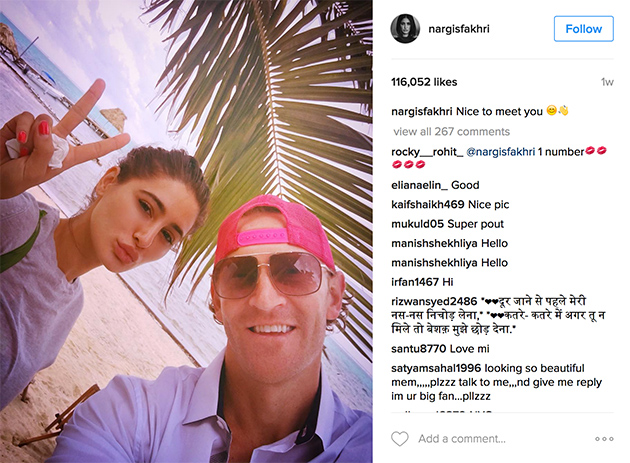 Celebrity Spotting: Bollywood's Nargis Fakhri's Beach Selfie in Belize