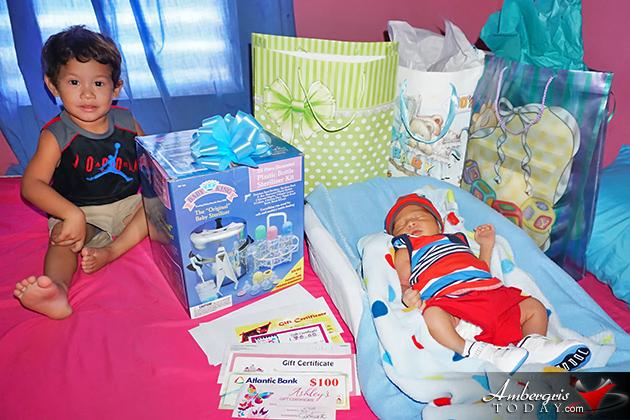 It's a Boy - Zaylen Bradley is Ambergris Caye's New Year Baby