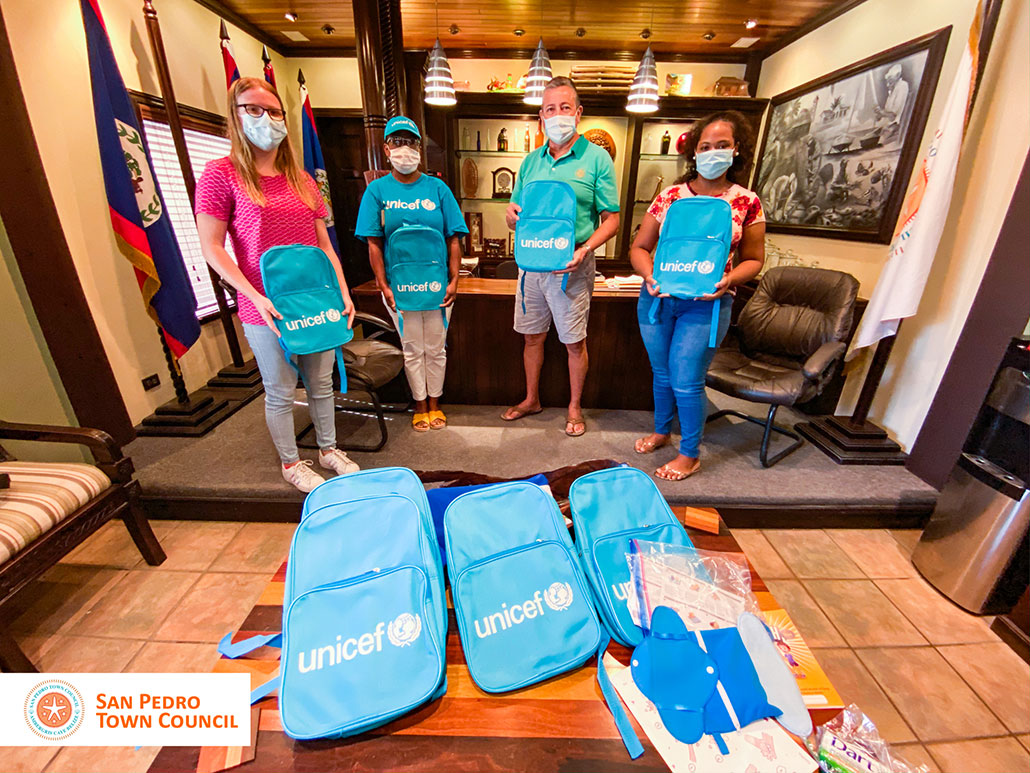 UNICEF Belize Makes Back Pack and Supplies Donation to Island Students