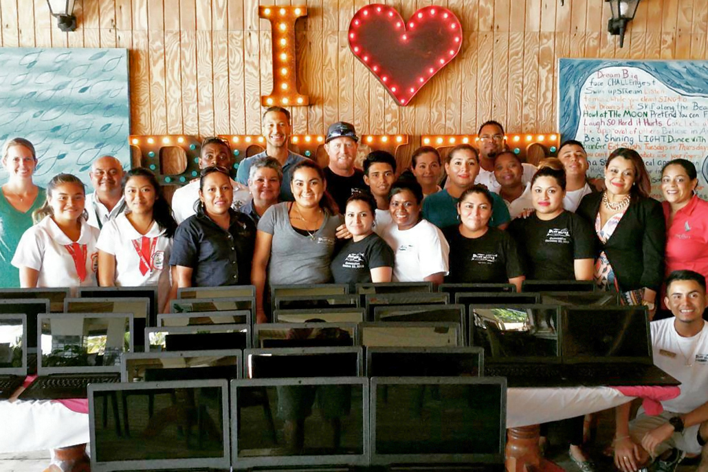 $10K for Oceana Belize, 30 Laptops for San Pedro High, Blue Water Grill