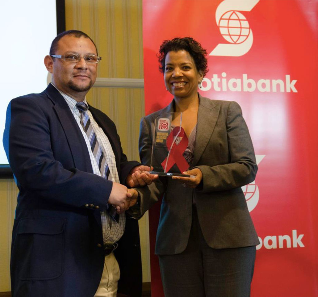 Belize National Aids Commission Receives Regional Testing Day Award