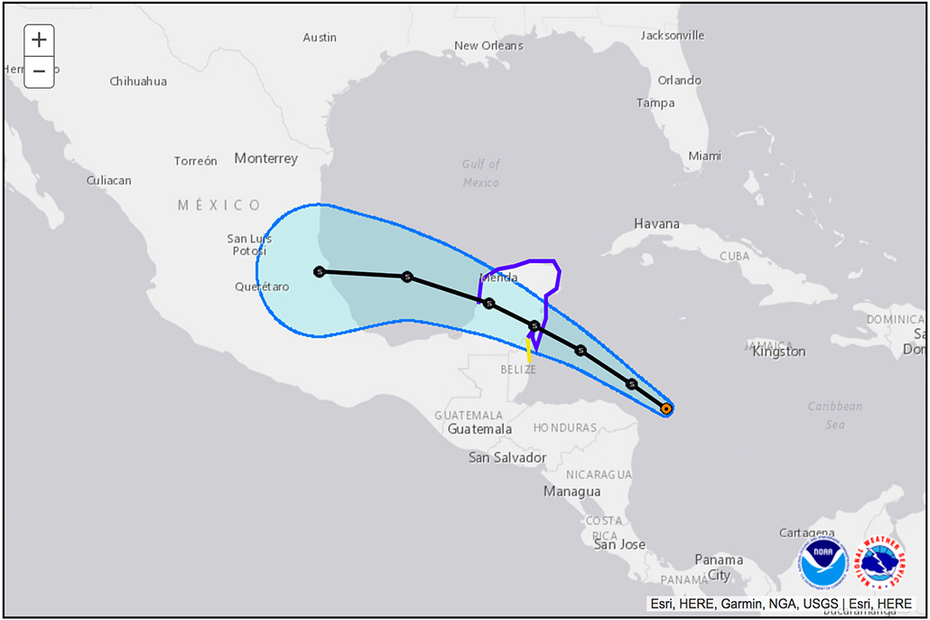 Belize Issues Tropical Storm Watch as Potential Tropical Cyclone Approaches