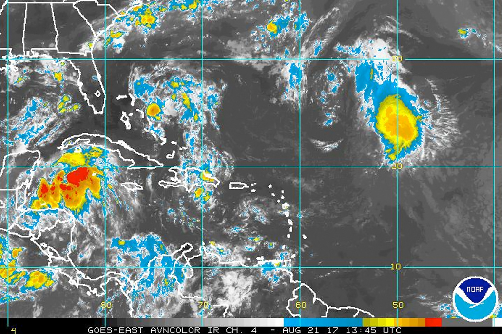 Lots of Rain Coming -  Remnants of Tropical Storm Harvey Approaching Belize